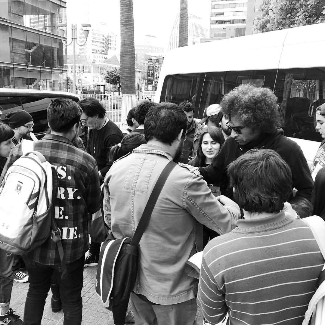 Outside of the hotel in Santiago. Fans here are amazing! #aliceinchains ;igshid=1ol437lzj8r7x